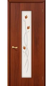 Межкомнатная дверь 22Х, со стеклом, цвет ИталОрех