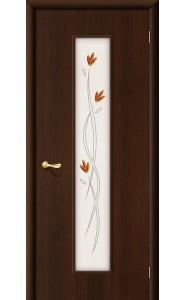 Межкомнатная дверь 22Х, со стеклом, цвет Венге