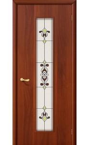 Межкомнатная дверь 23Х, со стеклом, цвет ИталОрех