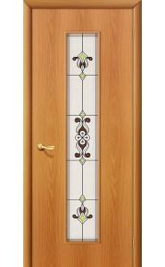Межкомнатная дверь 23Х, со стеклом, цвет МиланОрех