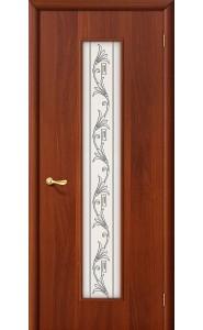 Межкомнатная дверь 24Х, со стеклом, цвет ИталОрех
