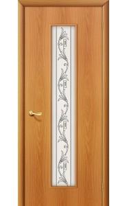 Межкомнатная дверь 24Х, со стеклом, цвет МиланОрех