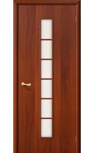 Межкомнатная дверь 2С, со стеклом, цвет ИталОрех
