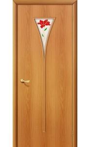 Межкомнатная дверь 3П, со стеклом, цвет МиланОрех