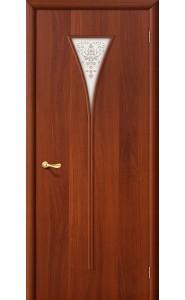 Межкомнатная дверь 3Х, со стеклом, цвет ИталОрех
