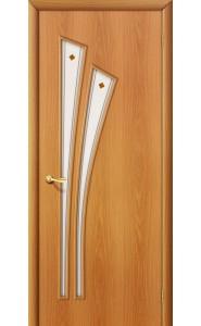Межкомнатная дверь 4Ф, со стеклом, цвет МиланОрех