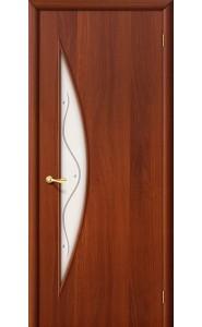 Межкомнатная дверь 5Ф, со стеклом, цвет ИталОрех