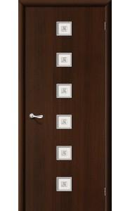 Межкомнатная дверь Квадро, со стеклом, цвет Венге