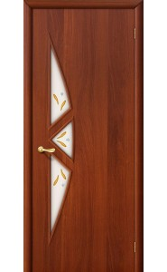 Межкомнатная дверь 15Ф, со стеклом, цвет ИталОрех