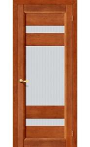 Межкомнатная дверь Вега-2 (ПО), со стеклом, цвет Темный Орех