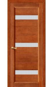 Межкомнатная дверь Вега-2 (ПЧО), со стеклом, цвет Темный Орех