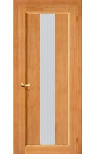 Межкомнатная дверь Вега-18, со стеклом, цвет Светлый Орех