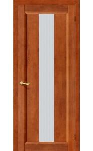 Межкомнатная дверь Вега-18, со стеклом, цвет Темный Орех