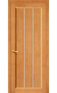 Межкомнатная дверь Вега-19, со стеклом, цвет Светлый Орех