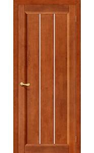Межкомнатная дверь Вега-19, со стеклом, цвет Темный Орех