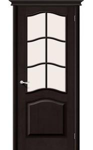 Межкомнатная дверь М7, со стеклом, цвет Темный Лак