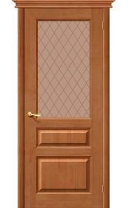 Межкомнатная дверь М5, со стеклом, цвет Светлый Лак