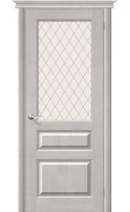 Межкомнатная дверь М5, со стеклом, цвет Белый Воск