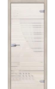 Межкомнатная дверь Грация, со стеклом, цвет Белое Сатинато