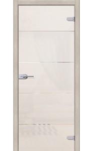 Межкомнатная дверь Диана, со стеклом, цвет Белое Сатинато