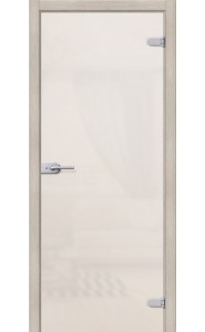 Межкомнатная дверь Лайт, со стеклом, цвет Белое Сатинато