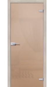 Межкомнатная дверь Лайт, со стеклом, цвет Бронза Сатинато
