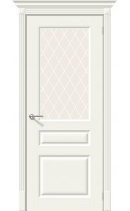 Межкомнатная дверь Скинни-15.1, со стеклом, цвет Whitey