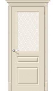 Межкомнатная дверь Скинни-15.1, со стеклом, цвет Cream