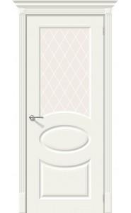 Межкомнатная дверь Скинни-21, со стеклом, цвет Whitey