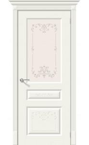 Межкомнатная дверь Скинни-15.1 Аrt, со стеклом, цвет Whitey