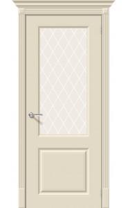 Межкомнатная дверь Скинни-13, со стеклом, цвет Cream