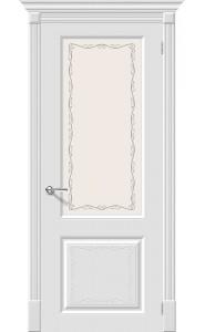Межкомнатная дверь Скинни-13 Аrt, со стеклом, цвет Whitey