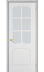Межкомнатная дверь Альфа, со стеклом, цвет Белый