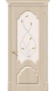 Межкомнатная дверь Скинни-33, со стеклом, цвет БелДуб