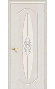 Межкомнатная дверь Орбита Плюс, со стеклом, цвет БелДуб