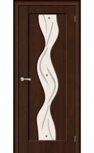 Межкомнатная дверь Вираж, со стеклом, цвет Венге