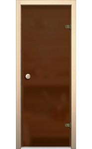 Межкомнатная дверь Кноб Е, со стеклом, цвет Бронза Сатинато