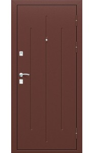 Входная дверь Стройгост 7-2, цвет Антик Медь/Антик Медь