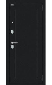 Входная дверь Флэш 119.Б15, цвет Букле черное/Bianco Veralinga