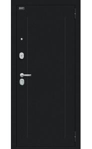 Входная дверь Флэш 119.Б15, цвет Букле черное/Cappuccino Veralinga