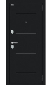 Входная дверь Мило 104.52, цвет Букле черное/Cappuccino Veralinga