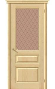 Межкомнатная дверь М5, со стеклом, цвет Без отделки