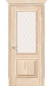Межкомнатная дверь Классико-13, со стеклом, цвет Без отделки
