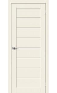 Межкомнатная дверь Браво-22, со стеклом, цвет Alaska