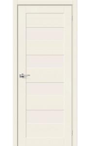 Межкомнатная дверь Браво-23, со стеклом, цвет Alaska
