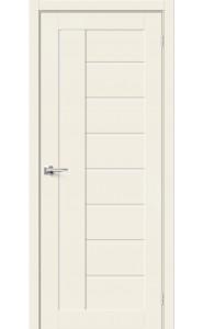 Межкомнатная дверь Браво-29, со стеклом, цвет Alaska