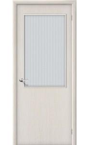 Межкомнатная дверь Гост ПО-2, со стеклом, цвет БелДуб
