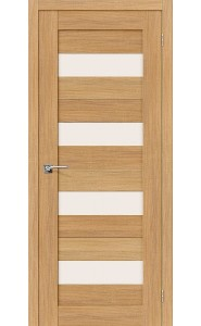 Межкомнатная дверь Порта-23, со стеклом, цвет Anegri Veralinga