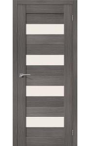 Межкомнатная дверь Порта-23, со стеклом, цвет Grey Veralinga