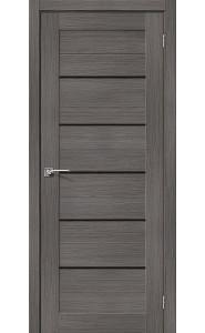 Межкомнатная дверь Порта-22, со стеклом, цвет Grey Veralinga